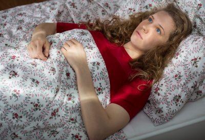 Woman insomnia unable to sleep